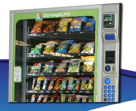 Custom front glass graphics for vending machines