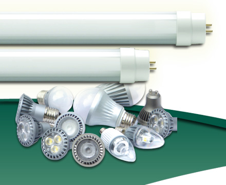 Change fluorescent fixtures with LED bulbs and tubes to save energy