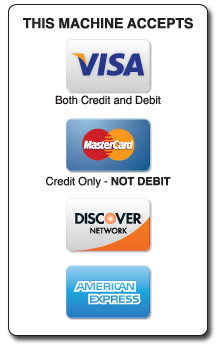 Accepted card payment methods Identity Label Decals