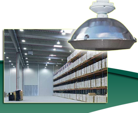 Change the high-pressure sodium to magnetic induction lighting in your warehouse