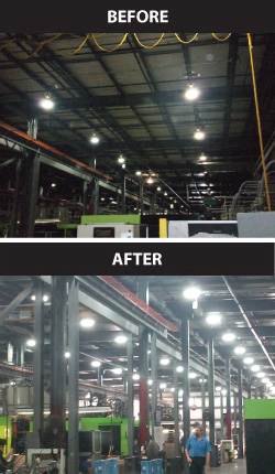 Magnetic Induction Lighting Replacing High-Pressure Sodium in Warehouse